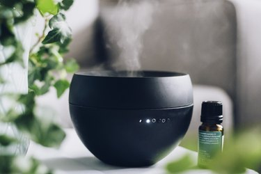 Black diffuser and aromatheraphy
