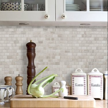 gel mosaic tile in kitchen