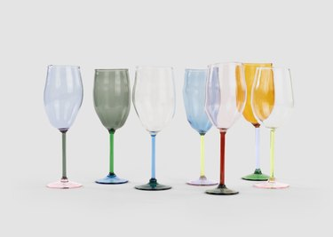 tinted glass stemware