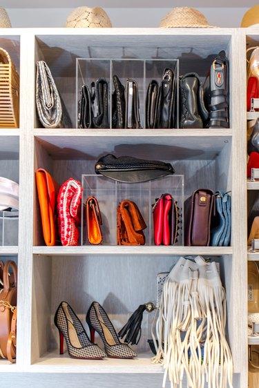 handbags in closet by professional organizer Jen Robin