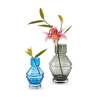 tinted glass vase