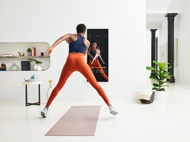 mirror at home gym