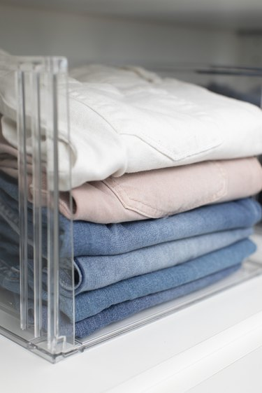 folded jeans in closet by professional organizer Jen Robin