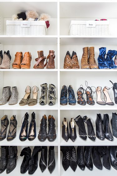 shoes in closet by professional organizer Jen Robin