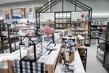 interior of home section at target