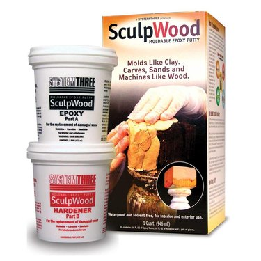 SculpWood epoxy putty.