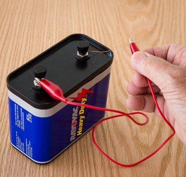 12-volt battery short.