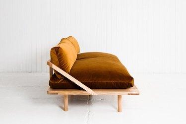 Austrialian brand Pop & Scott velvet sofa
