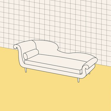 chaise longue illustration