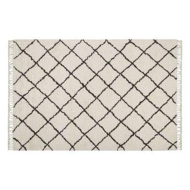 Patterned white rug