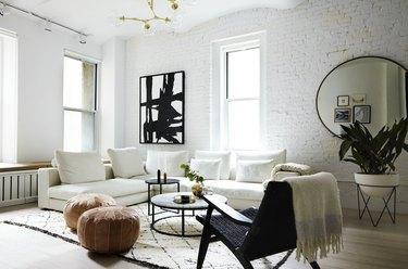 Contemporary white living room idea