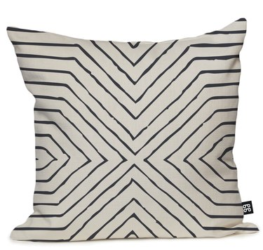 Patterned white pillow