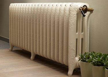 Painted radiator.