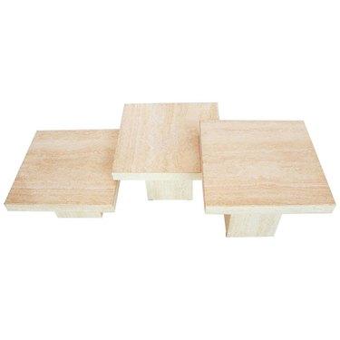 Set of three concrete tables