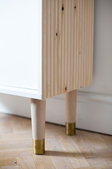 IKEA Hack: Small Bedroom Storage with Wooden Detail