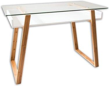 bonVIVO Glass and Wood Writing Desk, $199.90