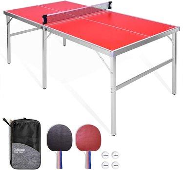 GoSports 6'x3' Mid-size Table Tennis Game Set, $142.82