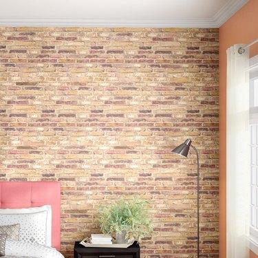 faux exposed brick wallpaper