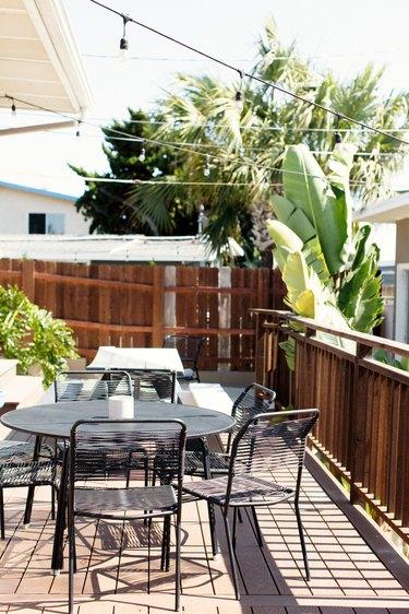 backyard patio and fence