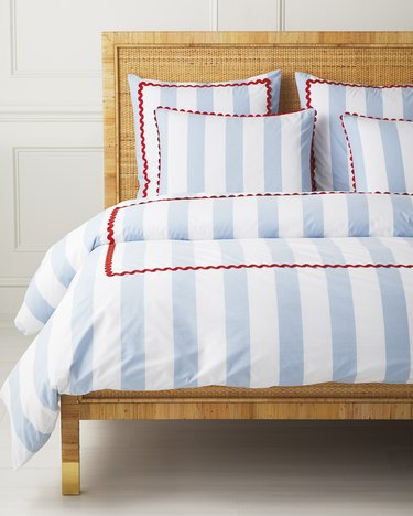 Serena & Lily Beach Club Stripe Duvet Cover (Full/Queen), $378