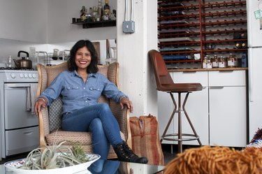 Marie Estrada of MÔTÔ in her Williamsburg loft