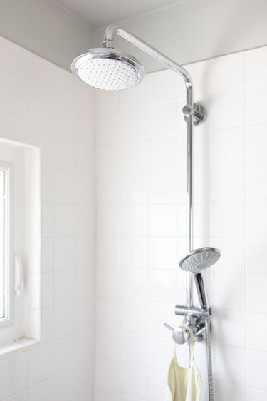close up of shower head