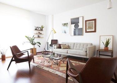 Midcentury living room lighting idea