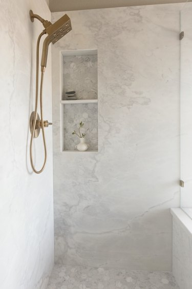 Marble shower bathroom trend