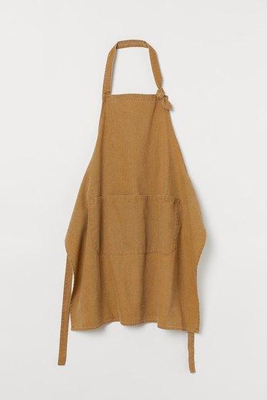 cotton apron in tan color