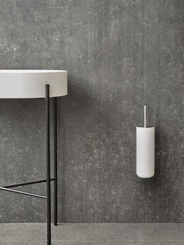 wall mounted steel toilet brush