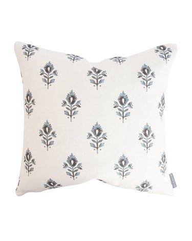 block print throw pillow