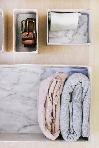 DIY Marie Kondo organizational boxes
