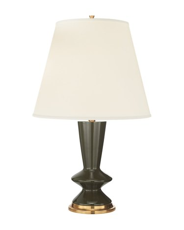 Modern table lamp with sculptural silhouette