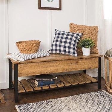 overstock lift-top storage bench