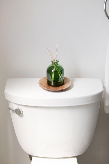 close up of bathroom toilet