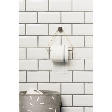 minimalist toilet paper holder