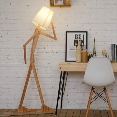 cool adjustable wooden floor lamp from HROOME