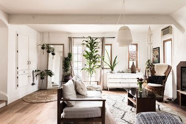 Living room, bohemian and vintage mix