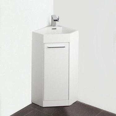 white corner bathroom vanity from Walmart