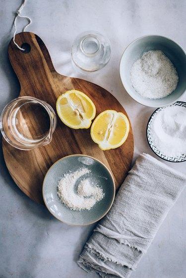 Cutting Board Scrub ingredients