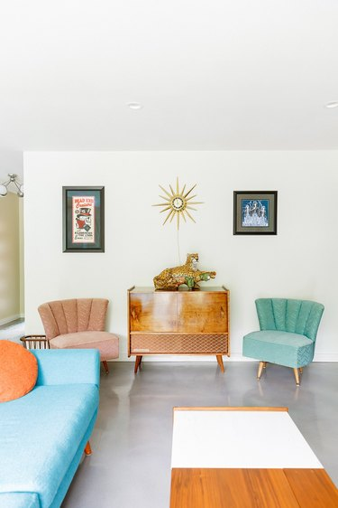 midcentury inspired living room