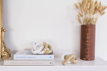minimalist decor items and books