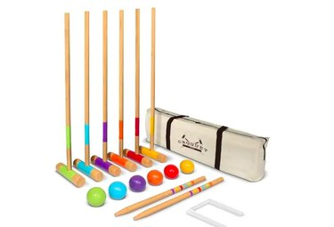 "GoSports Standard Croquet Set - 28"" Mallets for Kids & Adults, $45.98"