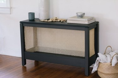 Console table DIY using cane