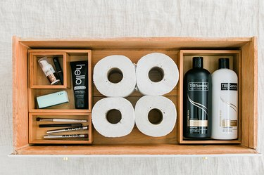 Compartmentalize space inside your drawers with bamboo boxes.