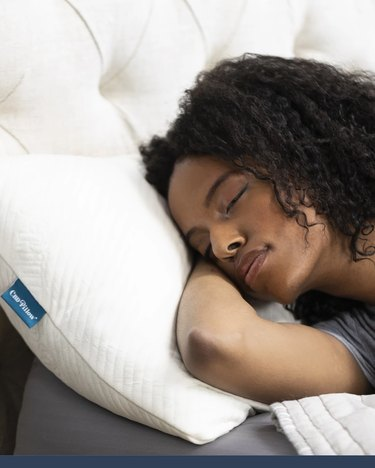 person sleeping on pillow