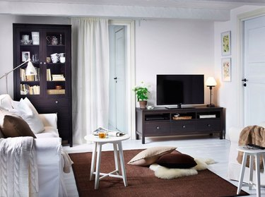 small living room with IKEA furniture