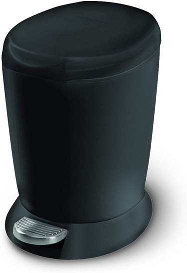 small black step trash can