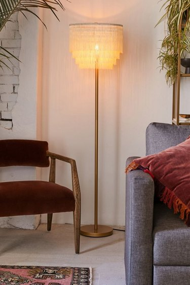 Urban Outfitters Tiered Fringe Floor Lamp, $129