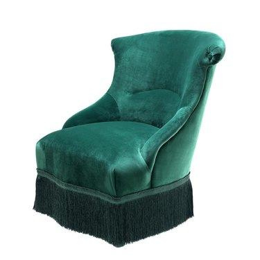 green fringe chair